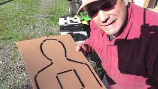 MAKING TARGETS . . . Recycle that cardboard!