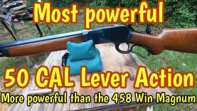 Most powerful Lever action, 300 gr Barnes bullet vs 500 gr Woodleigh
