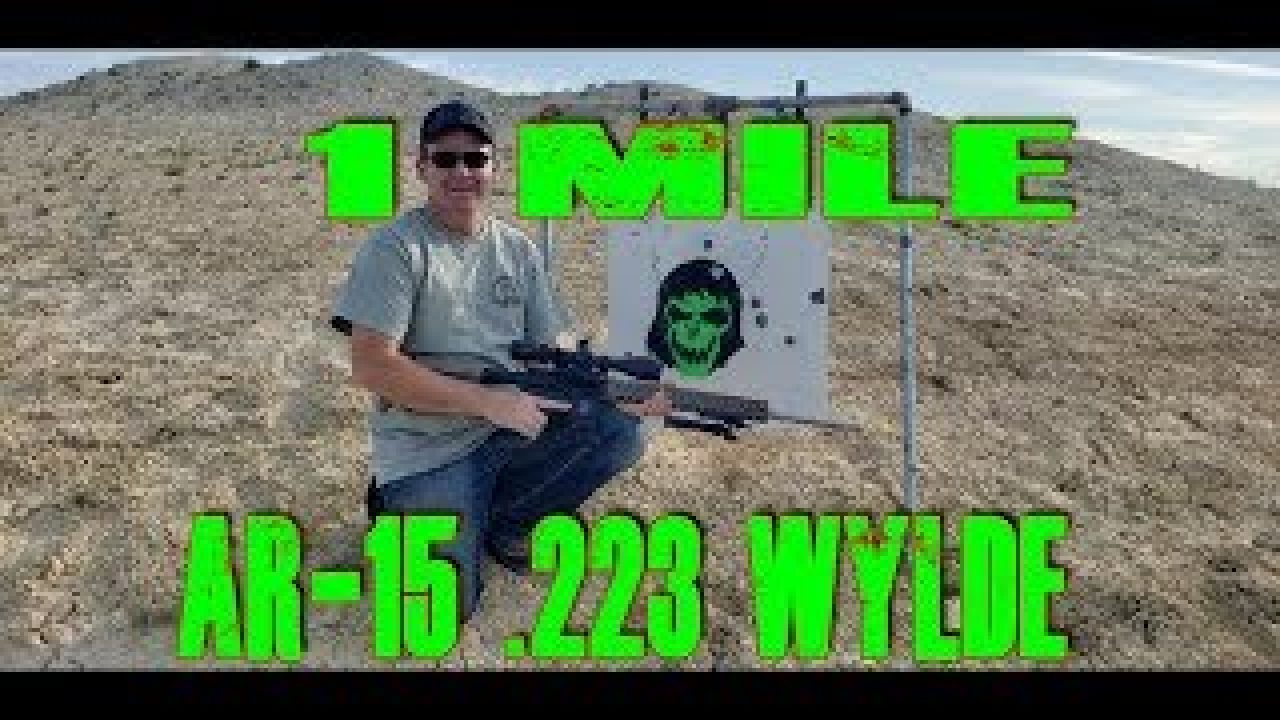 One mile Zombie with an AR15. What??!! 1