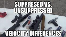Rimfire Suppressed vs. Unsuppressed Velocity Differences