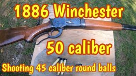 Round ball load /1886 Winchester caliber 50-110
