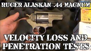 Ruger Alaskan Ballistics .44 Magnum Velocity Loss