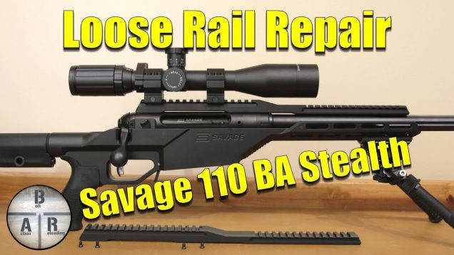Savage 110BA STEALTH 338 Lapua Magnum - Scope Rail Fix 44