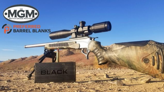 TC Encore 450 Bushmaster – MGM Custom Barrels Review – Hornady 250gr FTX Black Ammo