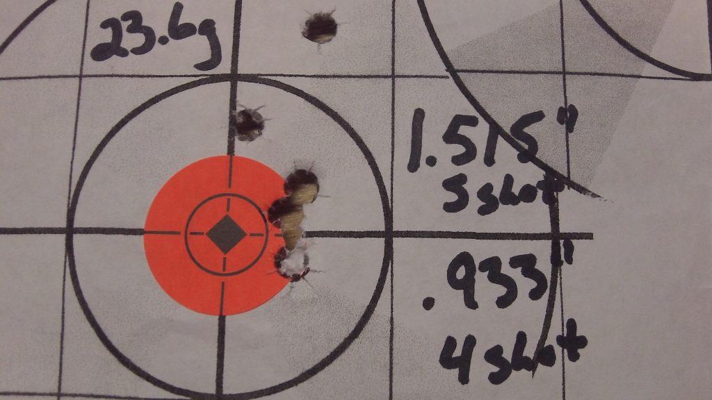 223 Rem; Ramshot TAC and Hornady 68g BTHP Match 9