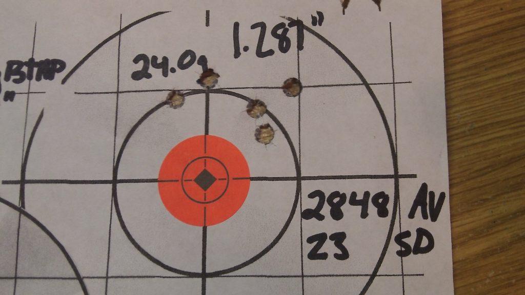 223 Rem; Ramshot TAC and Hornady 68g BTHP Match 11