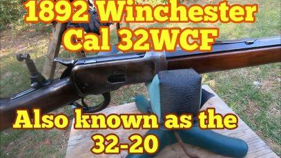 1892 Winchester lever action, 32-20 ballistic test