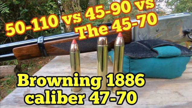 45-70 Ballistics vs 45-90 vs 50-110, Big Bore Lever Actions