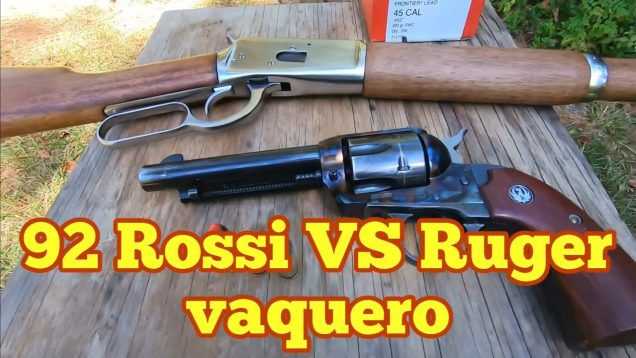 45 Colt Ruger Vaquero vs 92 Rossi in 45 Colt