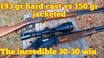 A Look at the 30-30 Win ballistics 193 gr hard cast vs 150 gr Core-Lokt