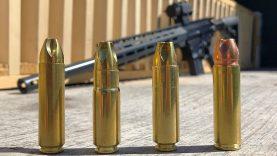 Big Bore AR-15s vs Pine Board Box!