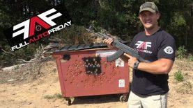 Full Auto Friday! AK-47 & AR-15 vs Dumpster 🗑