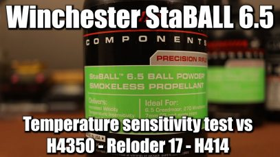 Winchester StaBALL 6.5 – Temperature sensitivity test