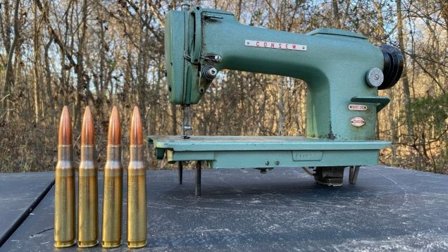 50 BMG vs Industrial Sewing Machine 🧵