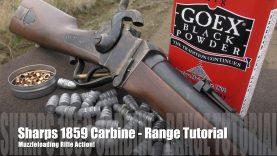 Sharps 1859 Carbine – Loading & Shooting
