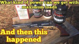 1847 Colt Walker using four different kinds of powder