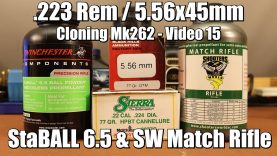 .223 Rem – 77gr Sierra Match King with StaBALL 6.5 and Match Rifle