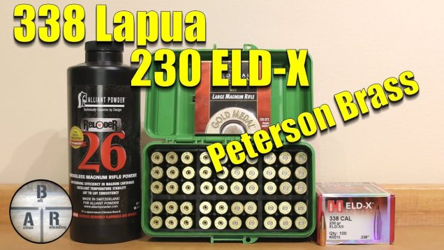 338 Lapua – 230 ELD-X with Reloder 26 – Peterson Brass