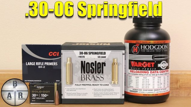 .30-06 Springfield Starting load development with the Speer Gold Dot and Varget