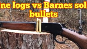 50-110 WCF With Barnes banded solid vs pine logs