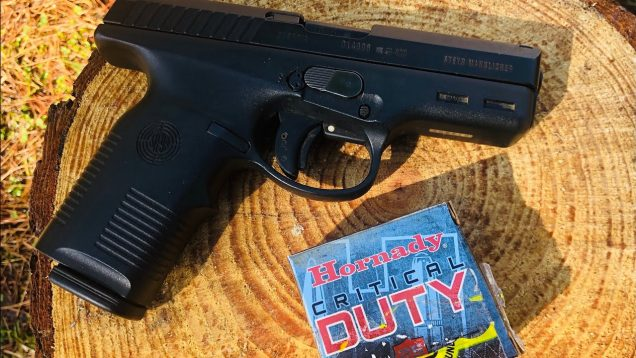 Hornady's Critical Duty Ammunition 9mm Luger +P 135 Grain FlexLock in a Steyr M9