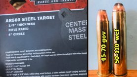 Part 2. 3/8″ AR500 steel target 🆚 50-110 WCF lever action