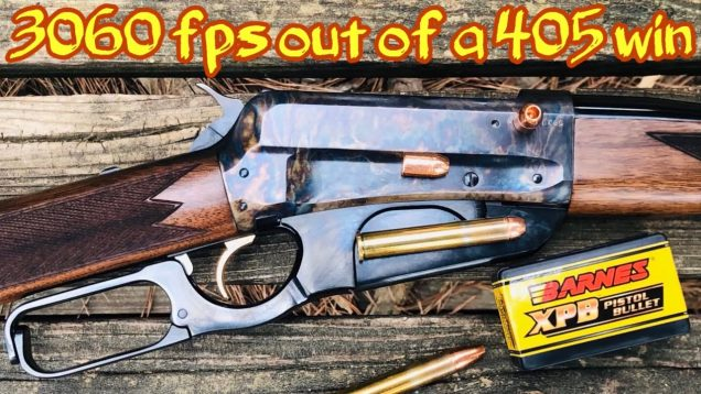 1895 Winchester caliber 405 Win shooting a 180 grain Barnes 41 cal XPB Bullets
