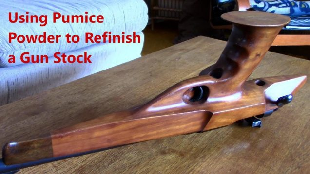 Using Pumice Powder and Linseed Oil to Refinish a Gun Stock