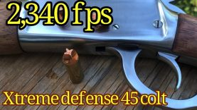 45 Colt Xtreme Defense in Rossi 92 at 2,340 fps