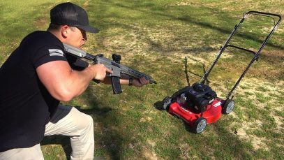 Full Auto 458 SOCOM vs Lawn Mower (Full Auto Friday)