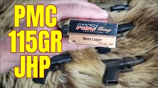 PMC BRONZE 115gr JHP Ballistics Gel and Chronograph Test
