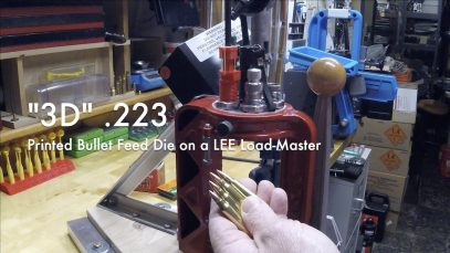 "WCChapin | ""3D"" .223 – Printed Bullet Feed Die on a LEE Load-Master"