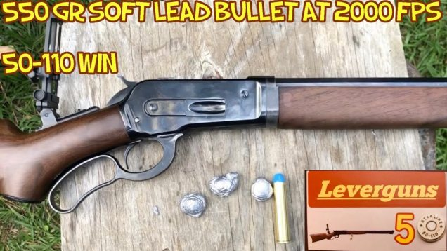 50-110 Win 525 and 550 grain soft lead bullets at 2000+ FPS