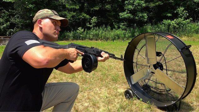 Full Auto AK-47 vs Giant Fan (Full Auto Friday)