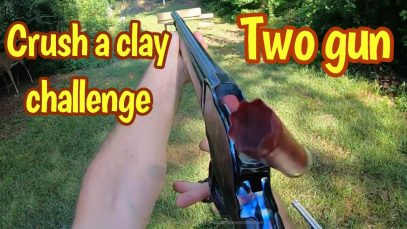 #Crushaclaychallenge with an 1887 Shotgun and a 92 Rossi in 45 Colt